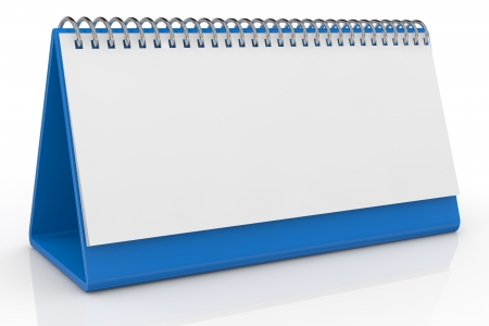 one desk calendar with a blank sheet (3d render) photo