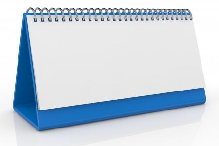 hoja en blanco: un calendario de escritorio con una hoja en blanco (3d)