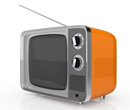closeup of one vintage tv (3d render) photo