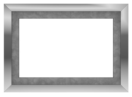 rectangular: one contemporary picture frame with blank space (3d render) Stock Photo