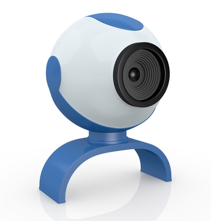one webcam, used for internet communications (3d render) Stock Photo - 14936319