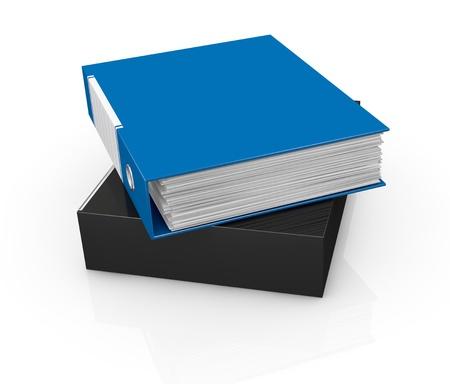 one office folder full of documents (3d render) Stock Photo - 16847093