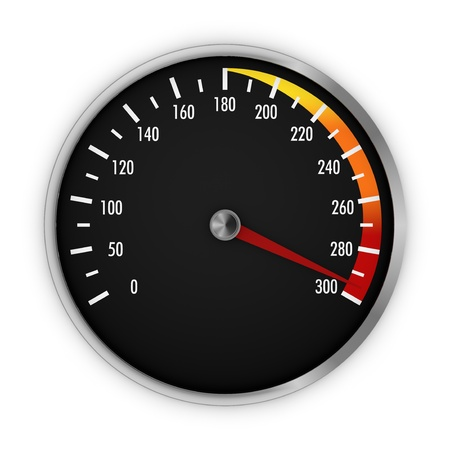 speedometer with needle near the max (3d render) Stock Photo - 17235284