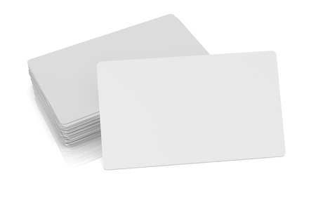 stack of paper: one business card with blank space for custom text or image and  a stack on background (3d render)