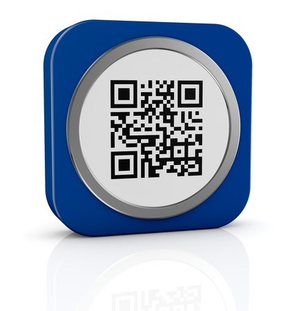 upcode: one icon with a qr code (3d render)