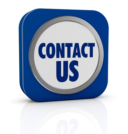 one icon with text: contact us (3d render) Stock Photo - 18137117