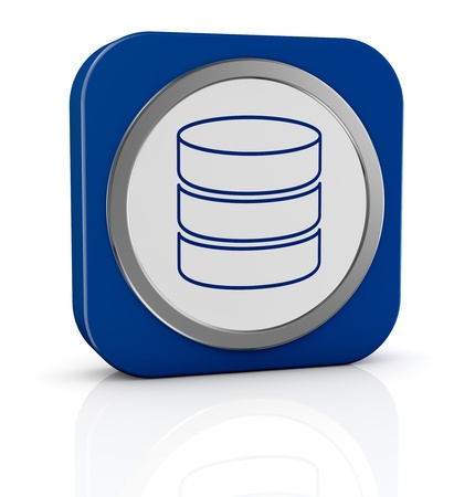sql: one icon with database symbol (3d render) Stock Photo