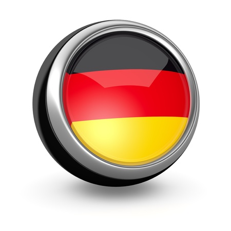 one sphere icon with the flag of Germany (3d render) photo