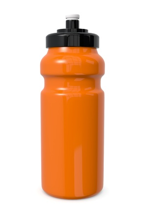 one reusable water bottle on white (3d render) photo