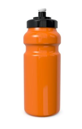 reusable: una bottiglia di acqua riutilizzabile su bianco (rendering 3d)