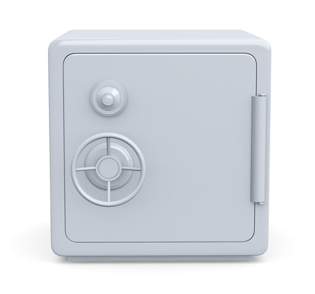 front view of a safe (3d render) photo