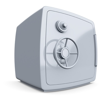 distorted view of a safe (3d render) photo