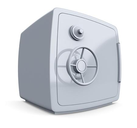 safe deposit box: distorted view of a safe (3d render)