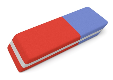 close up view of an eraser (3d render)