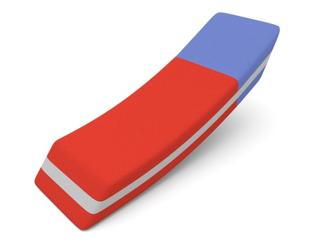 close up view of an eraser (3d render) Stock Photo - 20006784