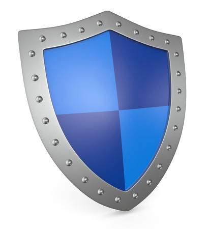 close up view of a shield (3d render) photo