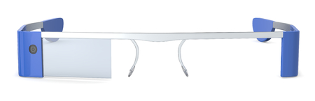 close up of smart glasses with a display  3d render  photo