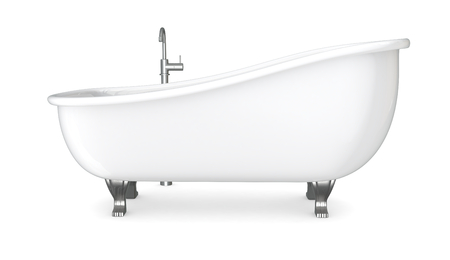 one vintage bathtub with the faucet  3d render