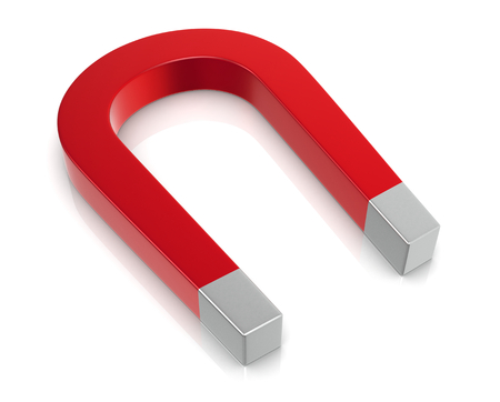 close up of a red magnet (3d render)