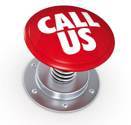 one push button with the text: call us (3d render) photo