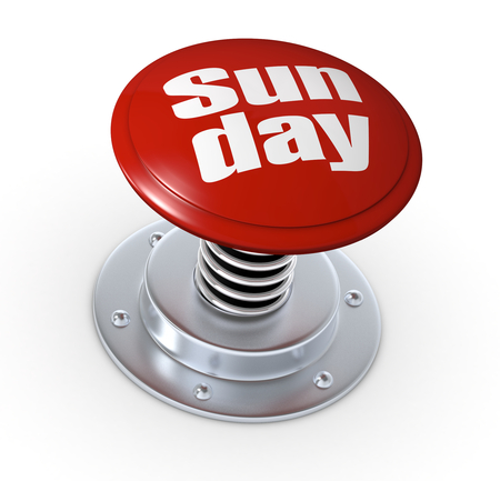 one push button with the text: sunday (3d render) photo