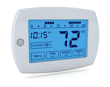 closeup of a digital, programmable thermostat (3d render) Stock fotó