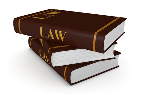 stack of books with title:law, concept of justice  photo