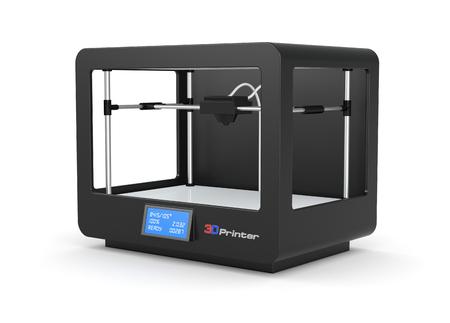 closeup of a black 3d printer (render) Banque d'images