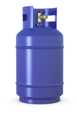close up of a blue methane gas cylinder (3d render) Stock Photo - 26368971
