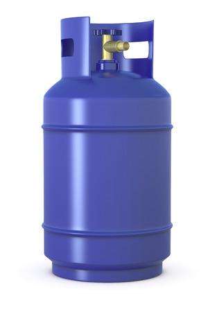 gas cylinder: close up of a blue methane gas cylinder (3d render)