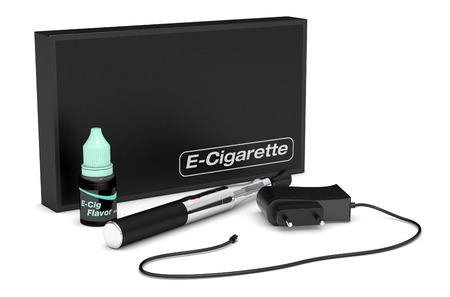 vaporized: complete kit for electronic cigarette  3d render