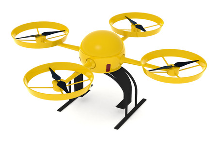 top view of a drone or quadcopter (3d render) photo