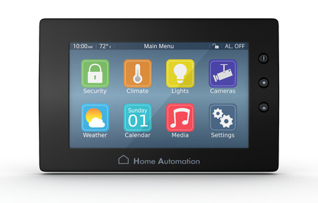 monitoring system: one control panel for home automation system (3d render)