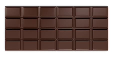 closeup of a chocolate bar (3d render) photo