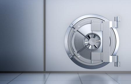 bank vault: front view of the door of a bank vault (3d render)