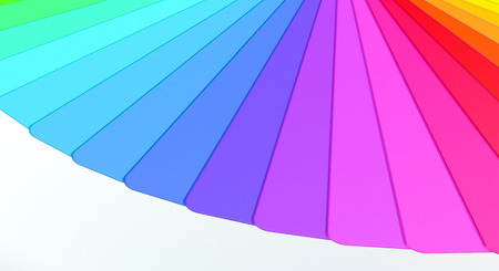 color guide: close up view of a color guide (3d render)