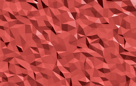 modelling: red wallpaper made with the technique of low-poly modelling (3d render)