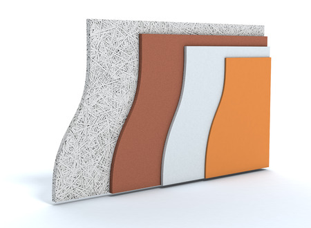 insulation: panels for thermal insulation of a wall, all layers visible (3d render)