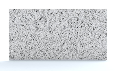 bonded: cement bonded wood fiber thermal insulation panel (3d render)