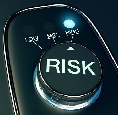 analisys: knob with concept of high risk (3d render) Stock Photo
