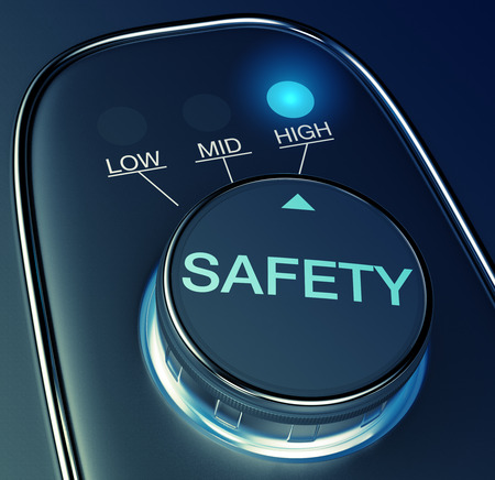 safety: knob with concept of high safety (3d render)