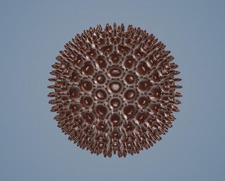 pollen: pollen grain under the microscope (3d render)