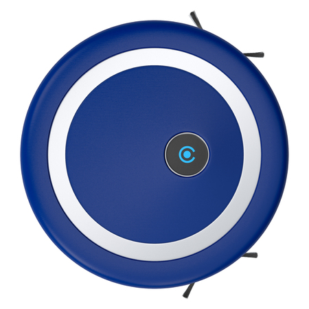 wireless tool: top view of a vacuum cleaner robot (3d render)