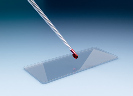 slide glass: glass slide with a pipette, concept of scientific research (3d render)