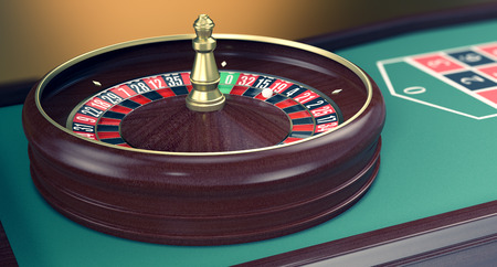 roulette table: close up view of a roulette table (3d render)
