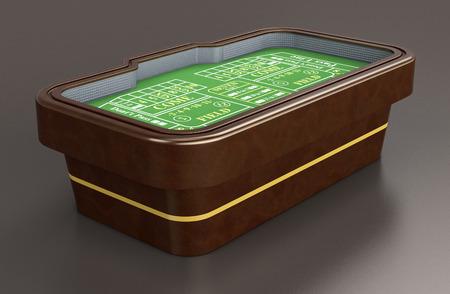 craps: craps table on dark background (3d render)
