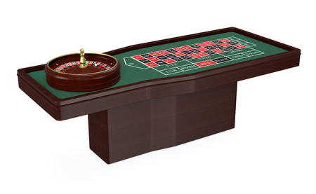roulette table: roulette table on white background (3d render)
