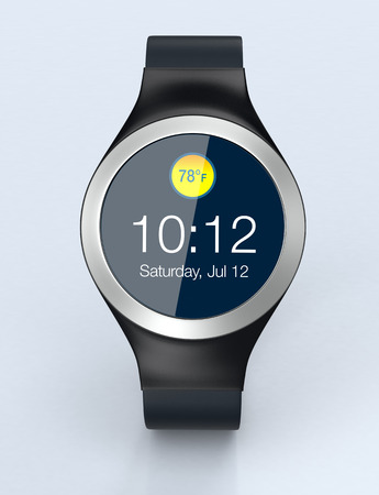 personal accessories: front view of an elegant smartwatch (3d render)