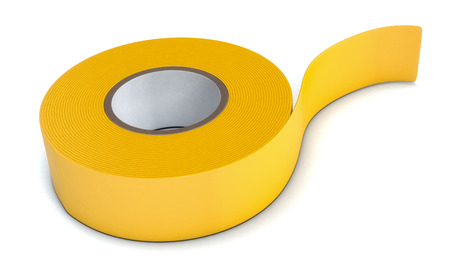 scotch: close-up view of a insulating adhesive tape on white background (3d render)