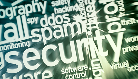 adware: word cloud with terms about computer security (3d render)